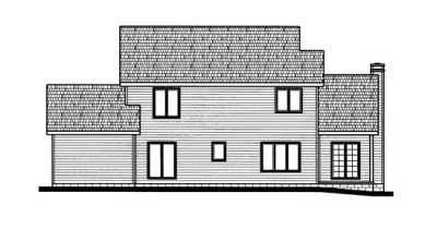 Rear Elevation Plan: 10-681