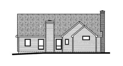 Rear Elevation Plan: 10-682