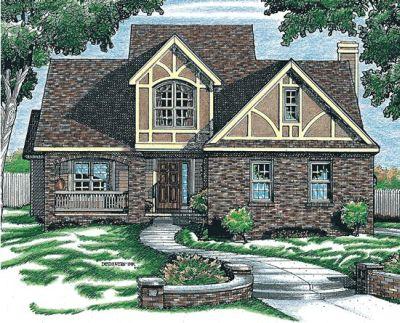 European Style Home Design Plan: 10-684