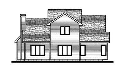 Rear Elevation Plan: 10-684