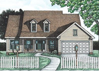 Country Style Home Design Plan: 10-685