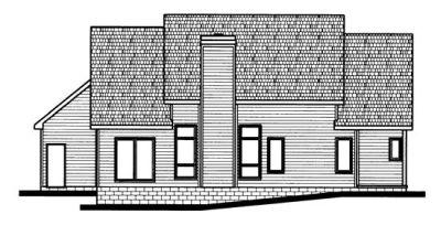Rear Elevation Plan: 10-685