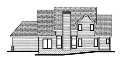 Rear Elevation Plan: 10-686