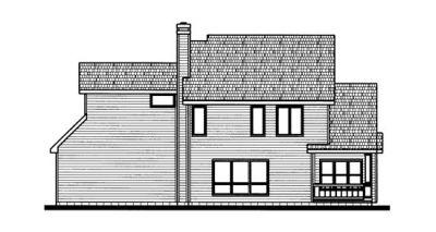 Rear Elevation Plan: 10-687
