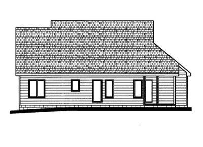 Rear Elevation Plan: 10-689