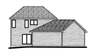 Rear Elevation Plan: 10-690