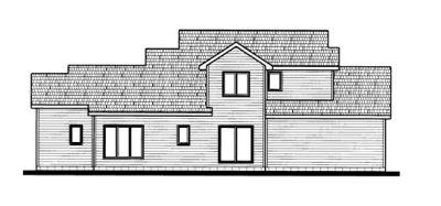 Rear Elevation Plan: 10-691