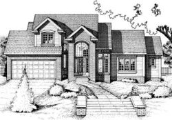 Traditional Style Home Design Plan: 10-691