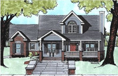 Country Style Home Design Plan: 10-692