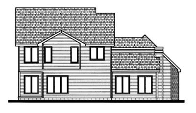 Rear Elevation Plan: 10-693