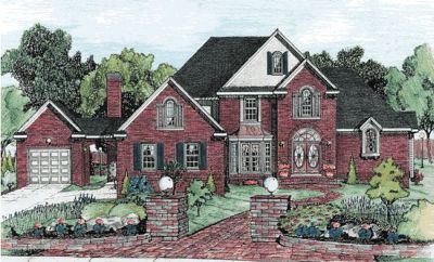 European Style House Plans Plan: 10-694