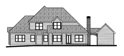 Rear Elevation Plan: 10-694