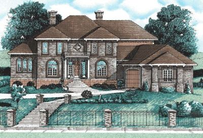 European Style House Plans Plan: 10-695