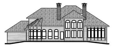 Rear Elevation Plan: 10-695