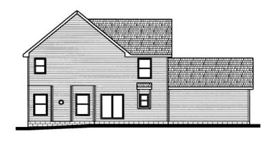 Rear Elevation Plan: 10-696