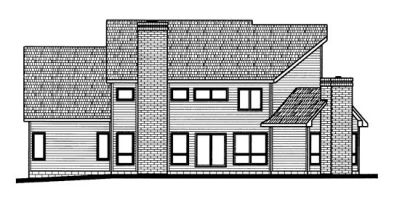 Rear Elevation Plan: 10-697