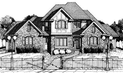European Style House Plans 10-698