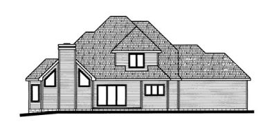 Rear Elevation Plan: 10-698