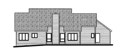 Rear Elevation Plan: 10-699