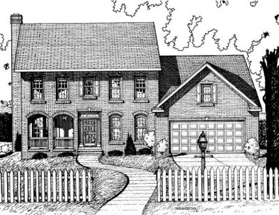 Early-american Style House Plans Plan: 10-701