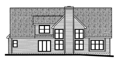 Rear Elevation Plan: 10-703
