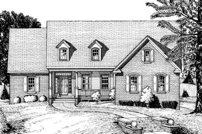 Traditional Style Home Design Plan: 10-710