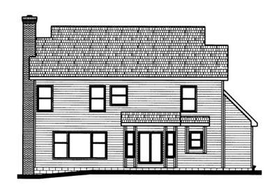 Rear Elevation Plan: 10-711