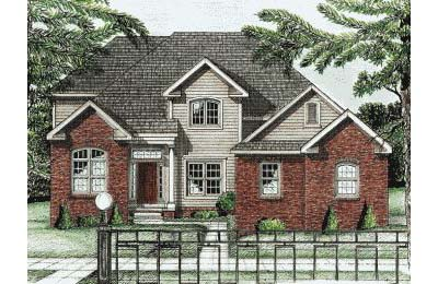 Traditional Style Home Design Plan: 10-713