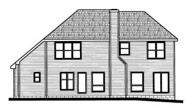 Rear Elevation Plan: 10-713