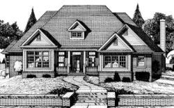 Traditional Style Home Design Plan: 10-714