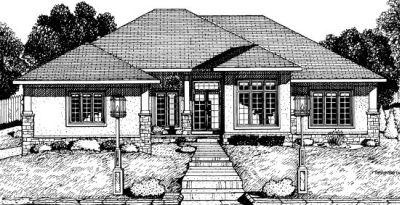 Contemporary Style Home Design Plan: 10-715
