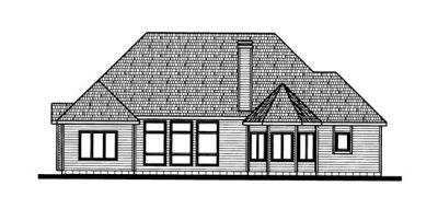 Rear Elevation Plan: 10-717