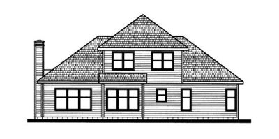 Rear Elevation Plan: 10-720