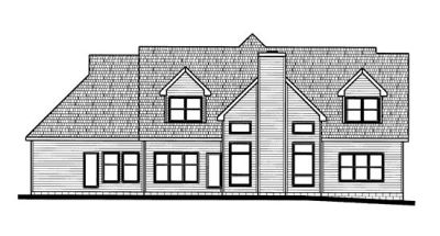 Rear Elevation Plan: 10-721