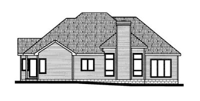 Rear Elevation Plan: 10-724