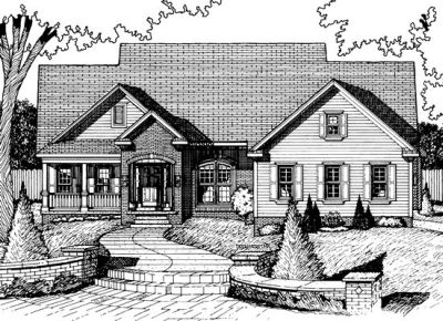 Traditional Style Home Design Plan: 10-725
