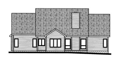 Rear Elevation Plan: 10-725