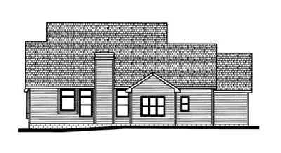 Rear Elevation Plan: 10-728
