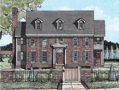 Early-american Style House Plans Plan: 10-730