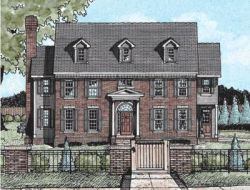 Early-American Style Floor Plans Plan: 10-730