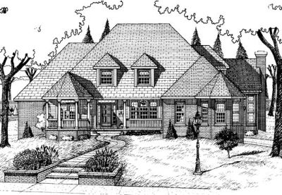 Country Style House Plans Plan: 10-731