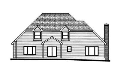Rear Elevation Plan: 10-732