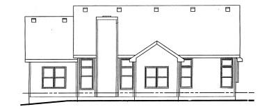Rear Elevation Plan: 10-733