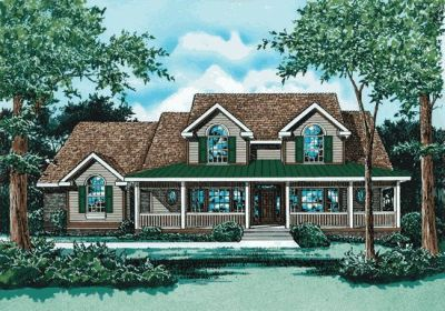 Country Style House Plans Plan: 10-734