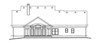 Rear Elevation Plan: 10-734
