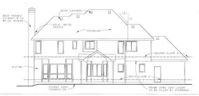 Rear Elevations Plan:10-735
