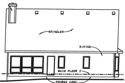 Rear Elevation Plan: 10-737