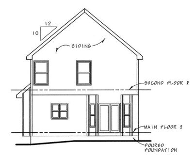 Rear Elevation Plan: 10-740