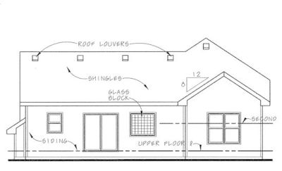 Rear Elevation Plan: 10-746