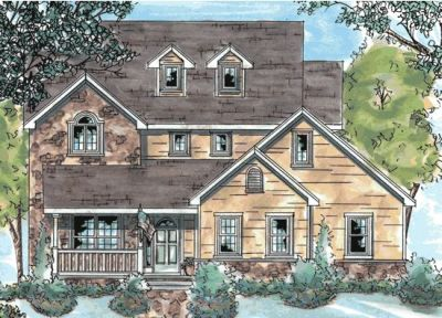 Country Style Home Design Plan: 10-749